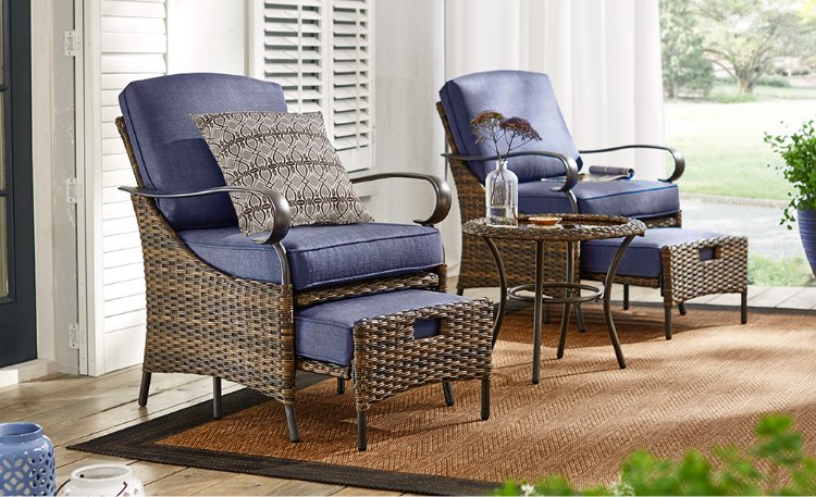 wicker patio chair set of 2 korum fishing on ebay furniture the home depot conversation sets small space