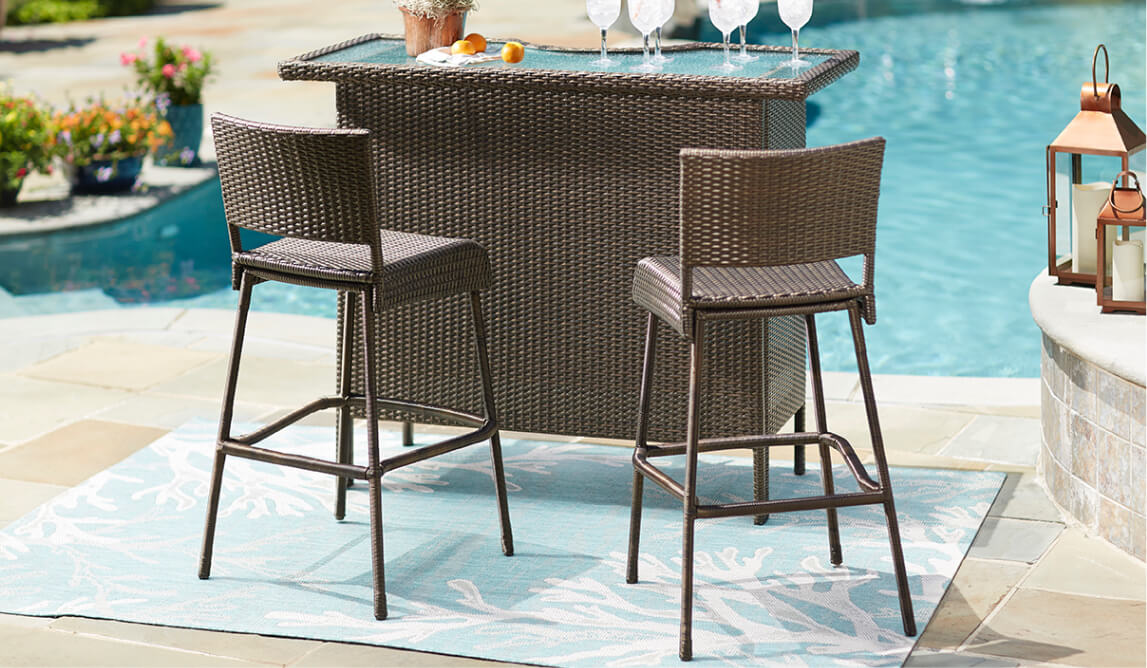 outdoor bar table and chairs louis 15 style chair furniture the home depot patio sets