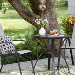 Small Outdoor Patio Table And Chairs Stool Chair Green Dining Furniture The Home Depot Space Sets