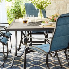 Dining Table With Metal Chairs Z Chair Covers Uk Outdoor Furniture The Home Depot Transitional Patio