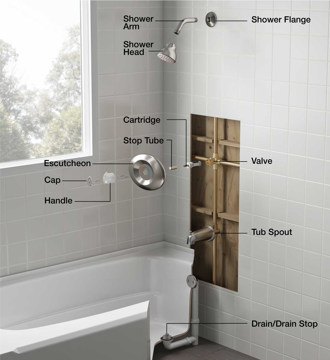 hight resolution of shower bathtub parts