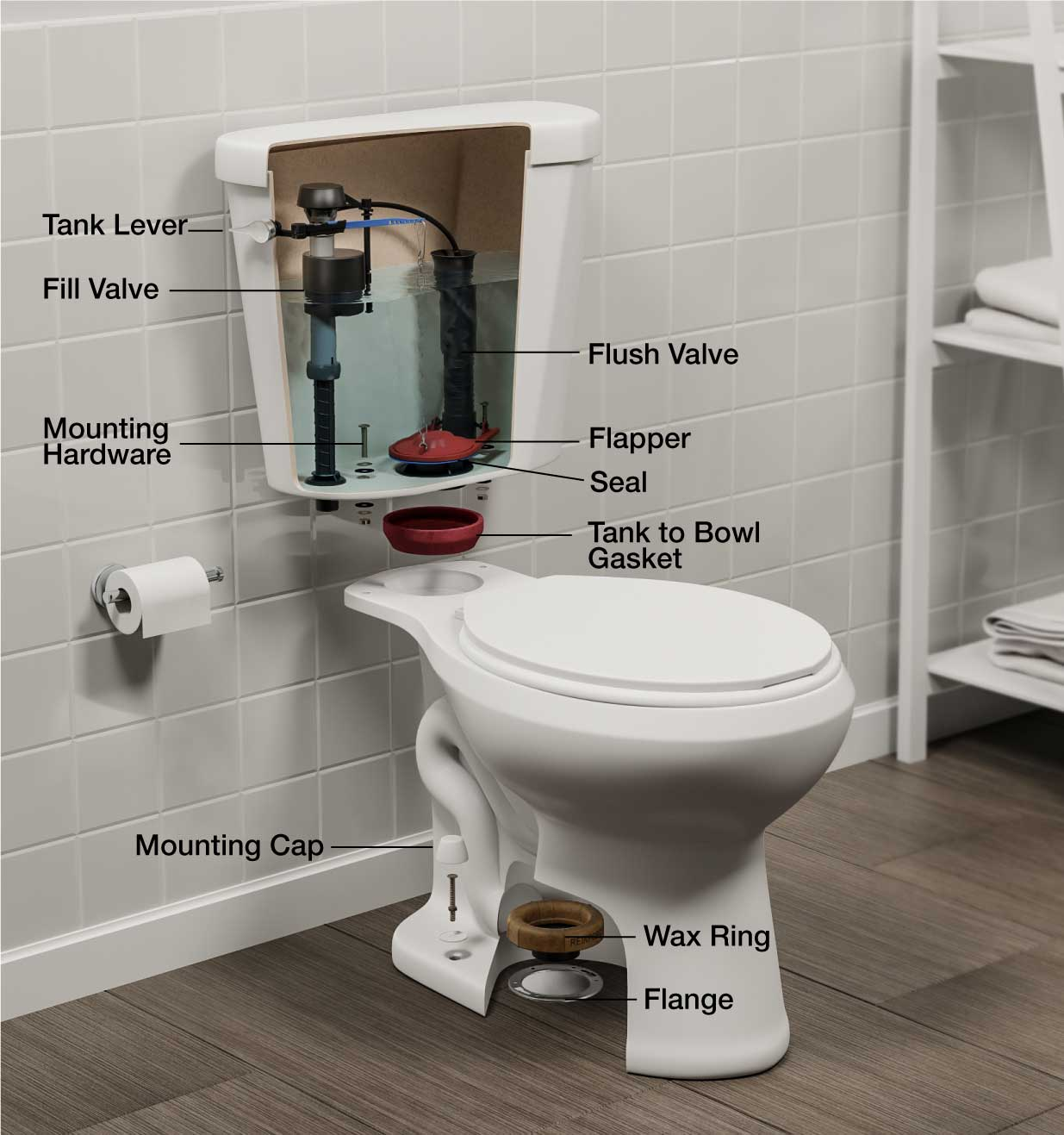 hight resolution of toilet parts