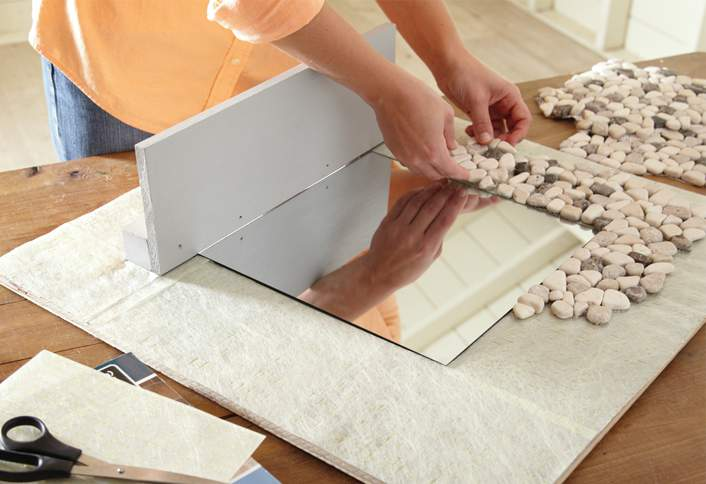 How to Make a Mosaic Tile Mirror at The Home Depot