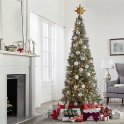 Christmas Decoration Ideas For Small Living Room Chairs Decorating The Home Depot Outdoor Decorations Slim Trees Spaces