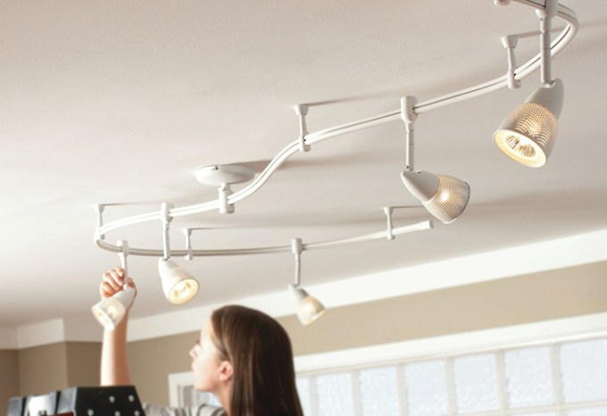 Diy track lighting installation centralroots attach track mounting plate lighting aloadofball Choice Image