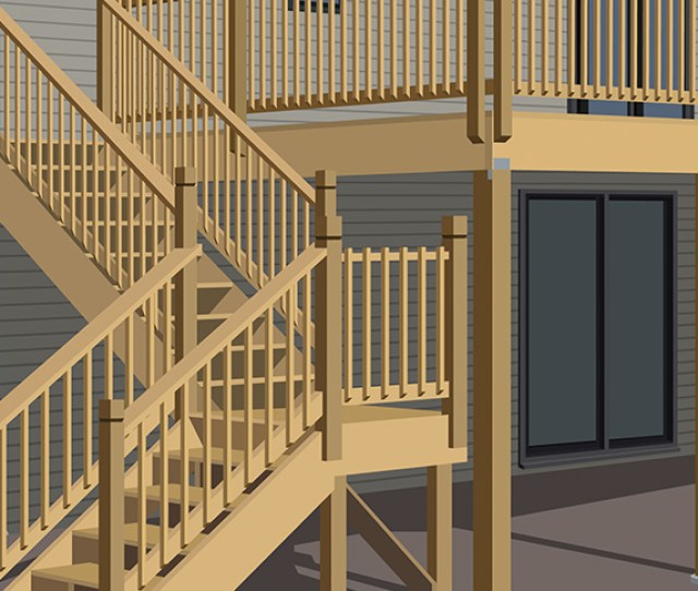 Locate Rail Posts Install Build Raised Deck