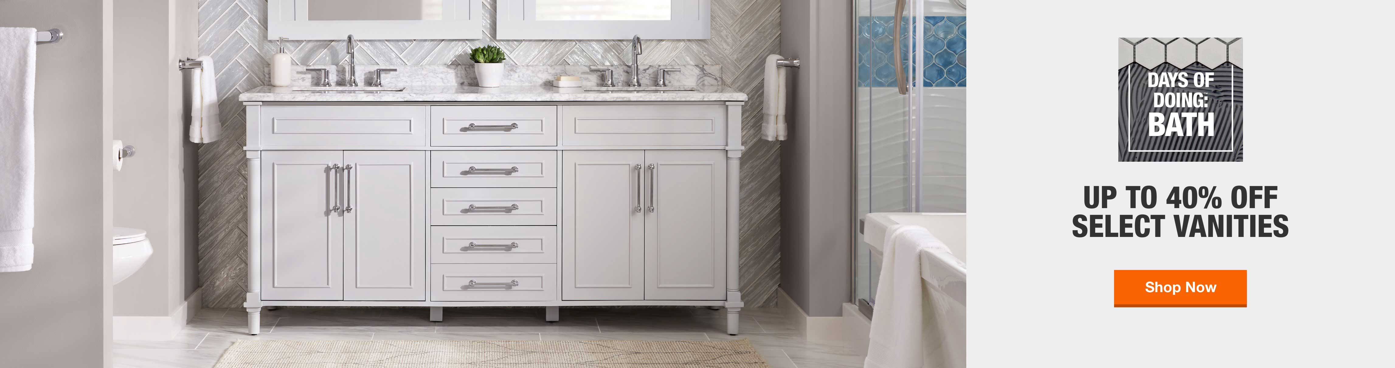 40 Off Or More Bathroom Vanities Bath The Home Depot