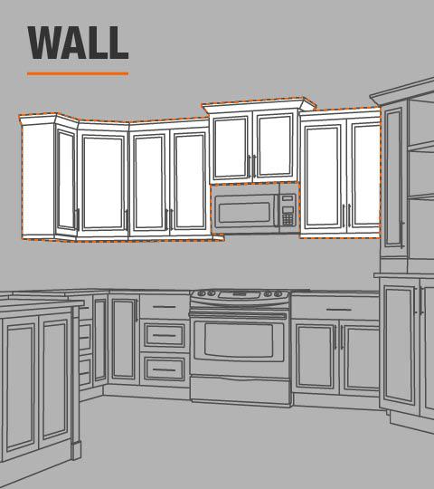 Hampton Bay Hampton Assembled 30x30x12 in. Wall Kitchen