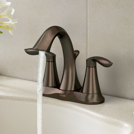 MOEN Eva 4 in Centerset 2Handle HighArc Bathroom Faucet