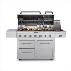 Kitchen Aid Gas Grills Sink Cabinet Kitchenaid 6 Burner Dual Chamber Propane Grill In Stainless Steel Fuel Detail