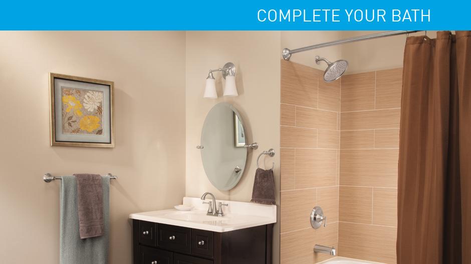 MOEN Ashville 4 in Centerset 2Handle Bathroom Faucet