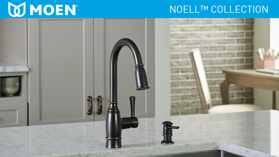 moen kitchen soap dispenser lowes stoves noell single-handle pull-down sprayer faucet ...