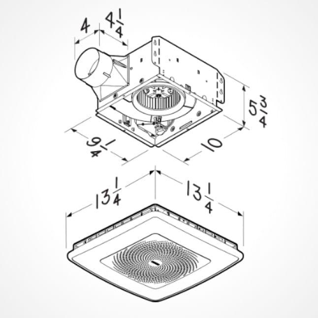 Broan-NuTone ChromaComfort 110 CFM Ceiling Bathroom
