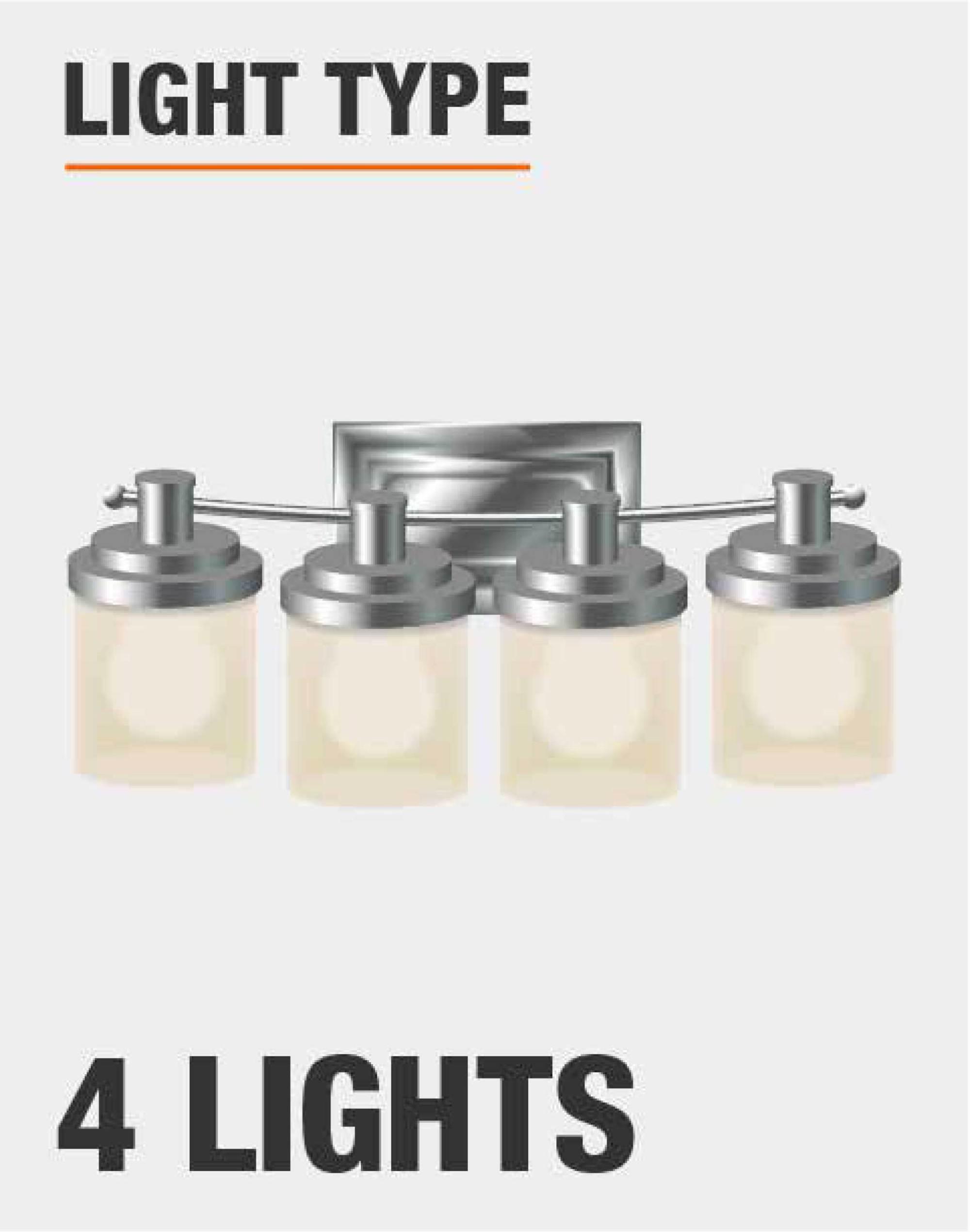 hight resolution of uses 4 100 watt medium base bulbs not included