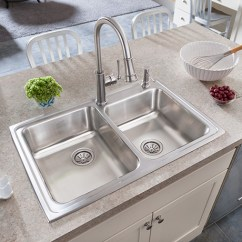 New Kitchen Sink Cabinet Refinishing Ct Elkay Lustertone Undermount Stainless Steel 27 In Single Bowl Flexible Installation