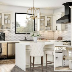 Remodel Kitchens Kitchen Dishes Cost To A The Home Depot Before And After Of An Upscale