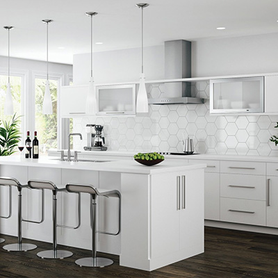 kitchen cabinets white samsung appliance reviews color gallery at the home depot edgeley 10x10 layout starts 2 062