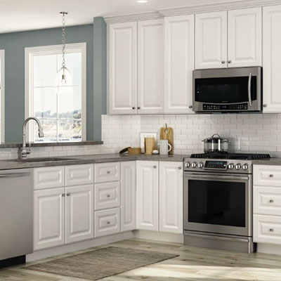 kitchen cabinets color beadboard gallery at the home depot hallmark arctic white