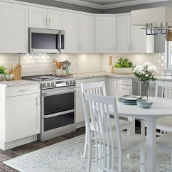 Kitchen Cabinets White Modern Handles Color Gallery At The Home Depot Hampton Bay Cambridge