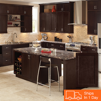 home depot kitchen designs buffet storage cabinets color gallery at the shop hampton bay shaker java