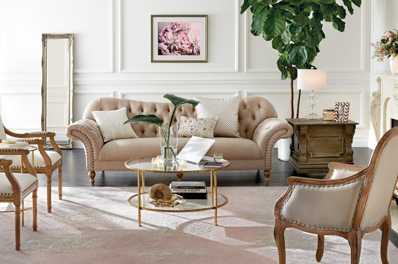 Vintage Glam Living Room Shop By Room The Home Depot