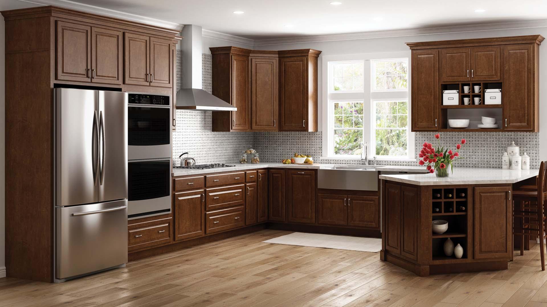 Maple Cognac Kitchen Cabinets  Wow Blog