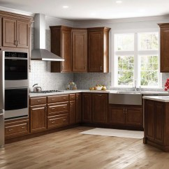 Kitchen Cabinets Home Depot Sink Hampton Wall In Cognac  The