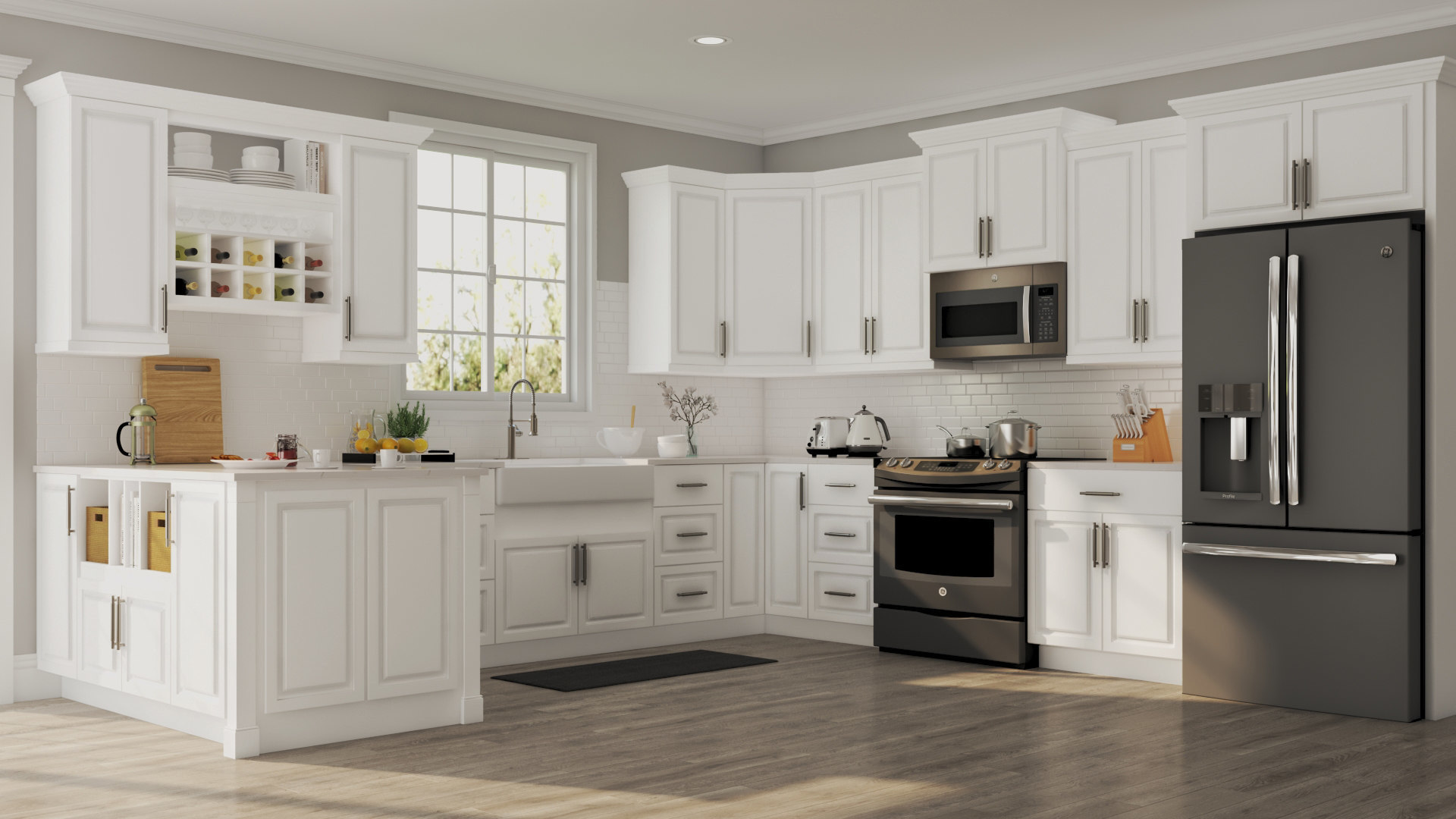 home depot cabinets kitchen grey rugs hampton base in white  the