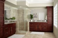 Kingsbridge Pantry Cabinets in Cabernet  Kitchen  The ...