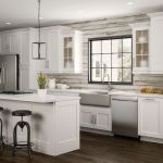 Newport Base Cabinets In Pacific White Kitchen The Home Depot