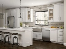 Newport Oven Cabinets In Pacific White Kitchen