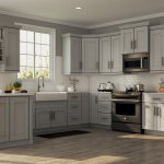 Shaker Specialty Cabinets In Dove Gray Kitchen The Home