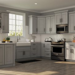 Gray Cabinets Kitchen 50's Table And Chairs Shaker Wall In Dove  The Home Depot