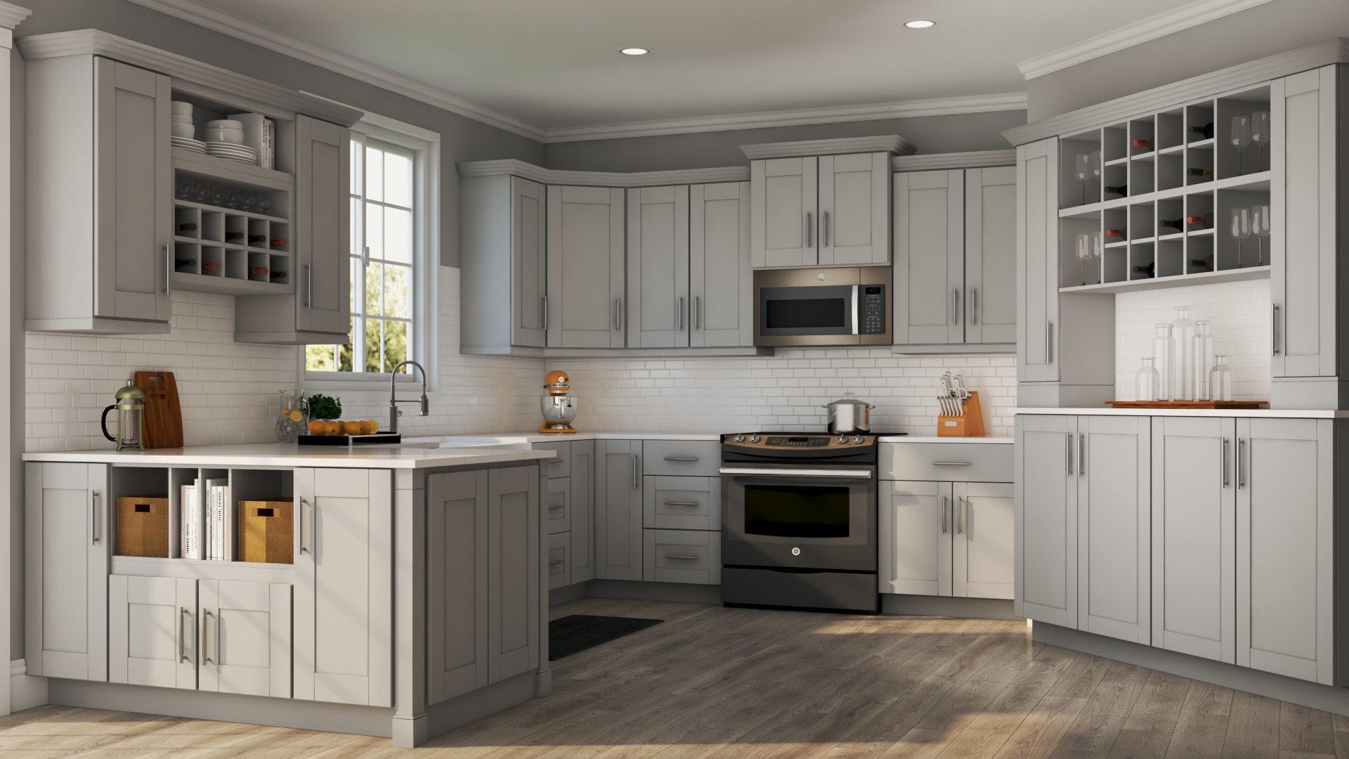 Kitchen Design Gray Cabinets  Kitchens Design Ideas And