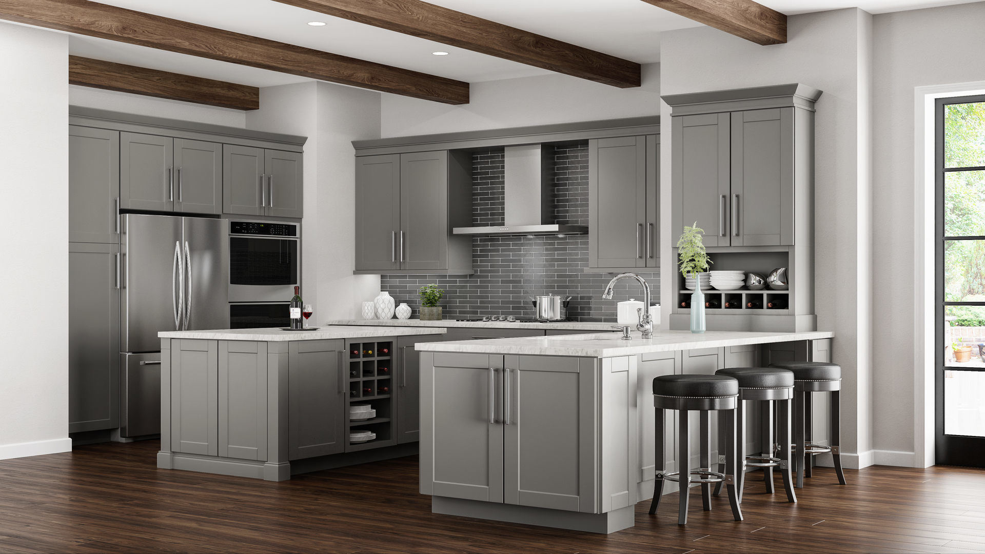grey kitchen cabinets virtual designer free shaker wall in dove gray the home depot hampton bay