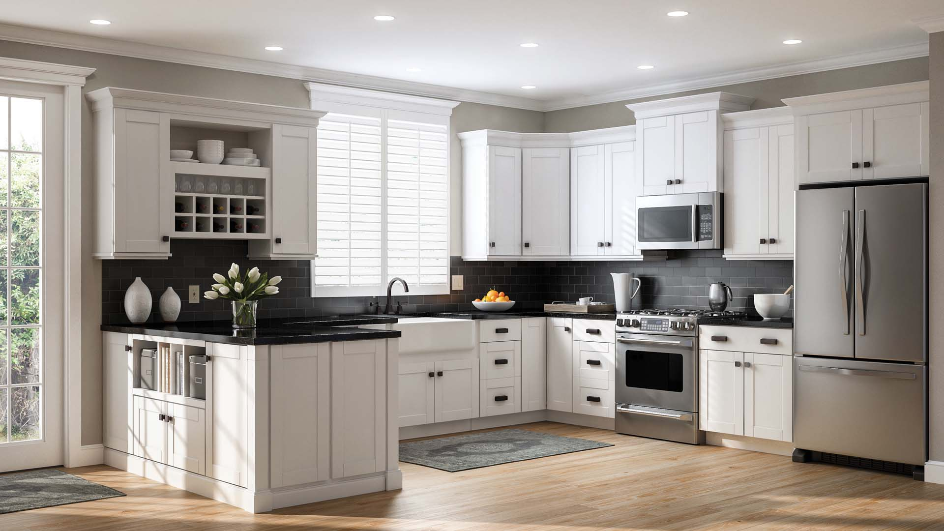 Shaker Pantry Cabinets in White  Kitchen  The Home Depot