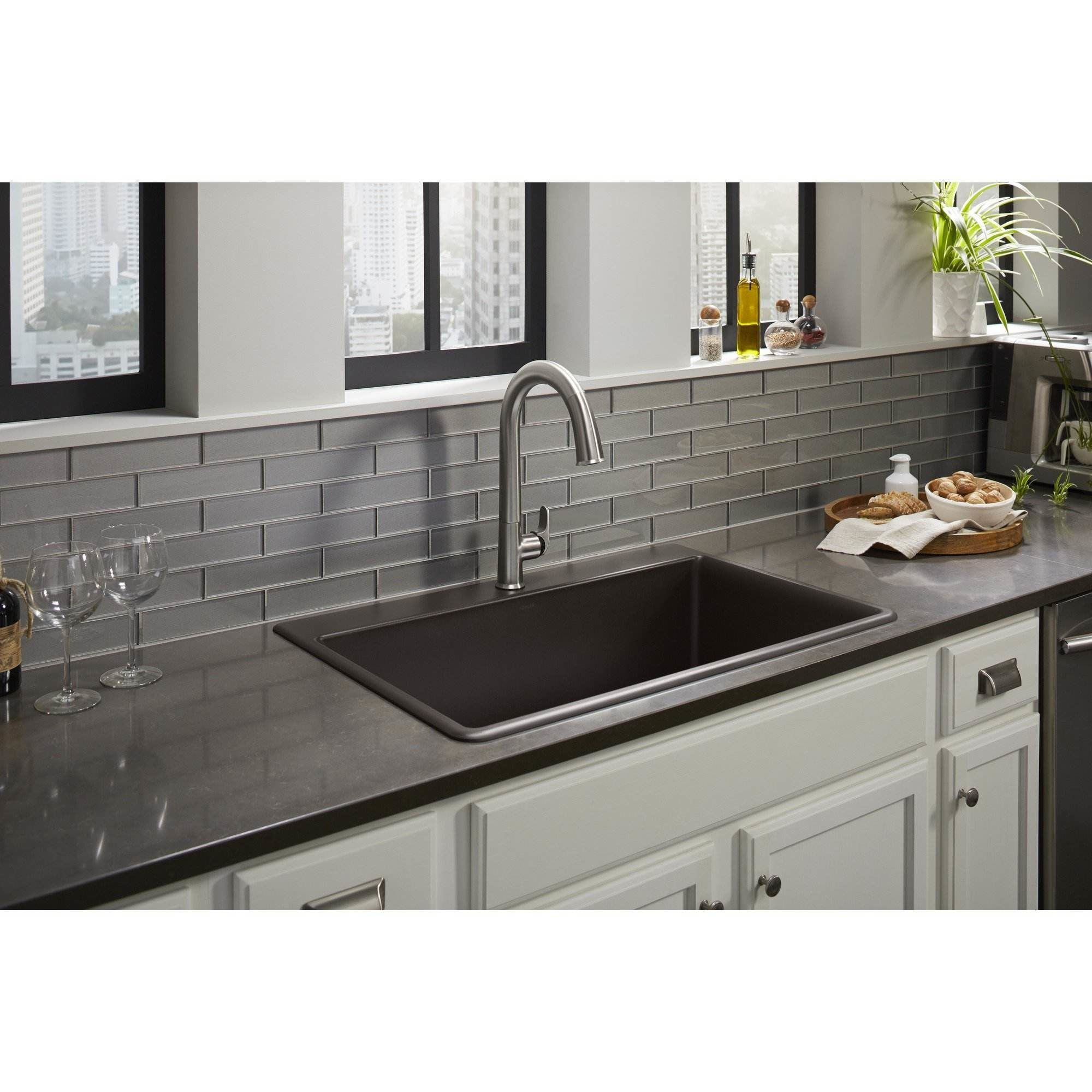 kohler kitchen sinks home depot tall table sets black sink tyres2c