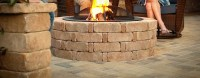Easy Brick Fire Pit. How To Build A Fire Pit. Easy DIY ...