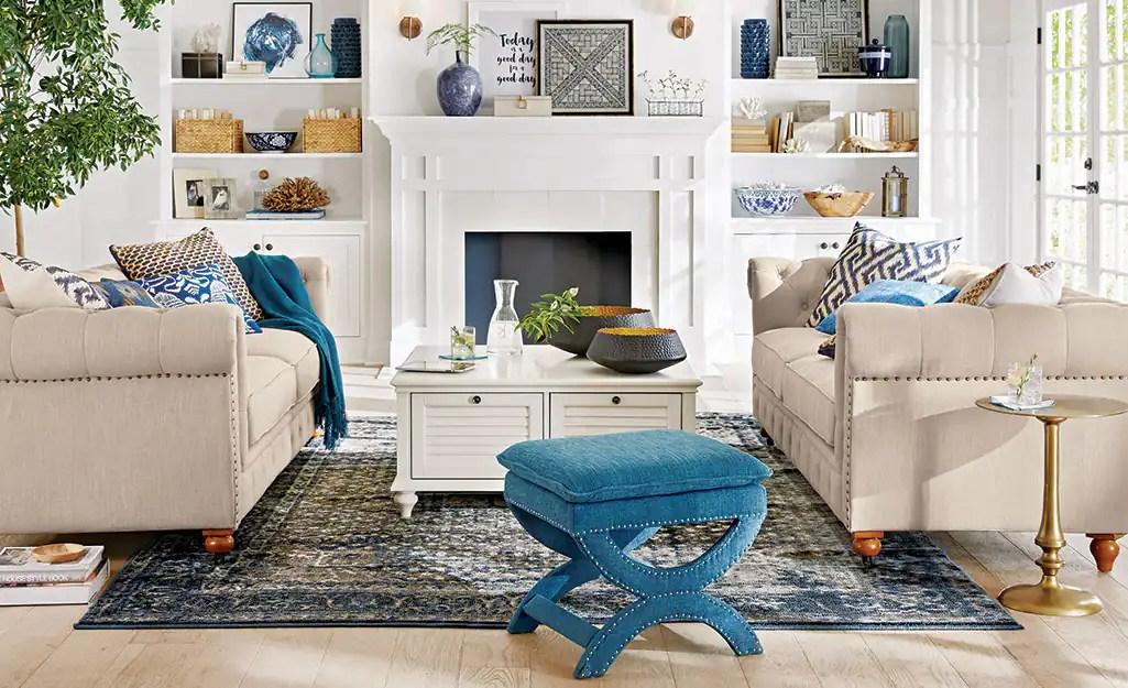 Blue Living Room Ideas The Home Depot