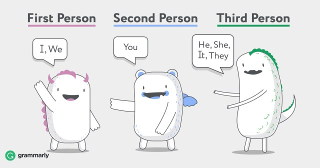 First, Second, and Third Person–Ways of Describing Points of View