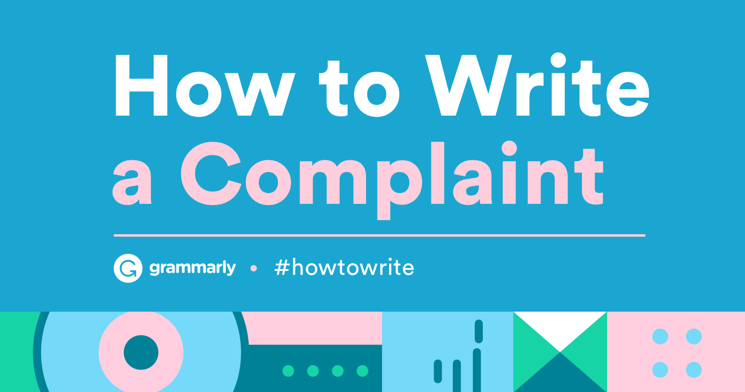 How To Write a Complaint Letter  With Examples  Grammarly