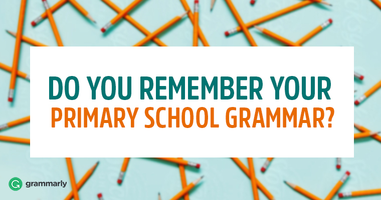 Do You Remember Your Primary School Grammar?