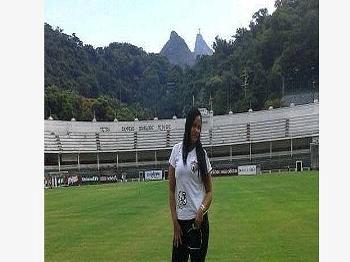 Fluminense Torcedora Posta Foto Campo Laranjeiras Festa Young Flu