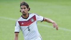Khedira durante treino da Alemanha, nesta quinta-feira
