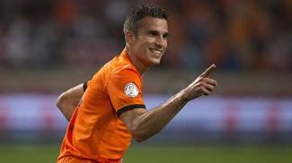Van Persie comemora gol diante da Turquia