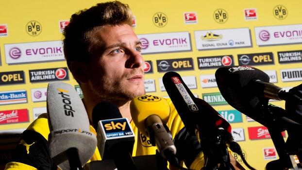 Immobile foi contratado pelo Dortmund nesta temporada com a missão de substituir Lewandowski