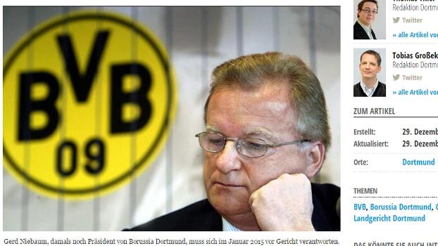 Gerd Niebaum Ex-Presidente Borussia Dortmund