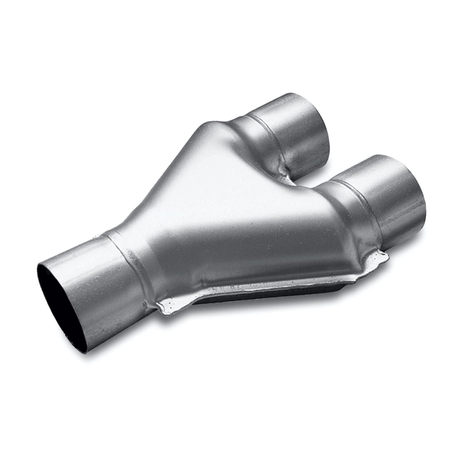 magnaflow exhaust products 10798 3in dual inlet x 3in single outlet exhaust pipe and adapter
