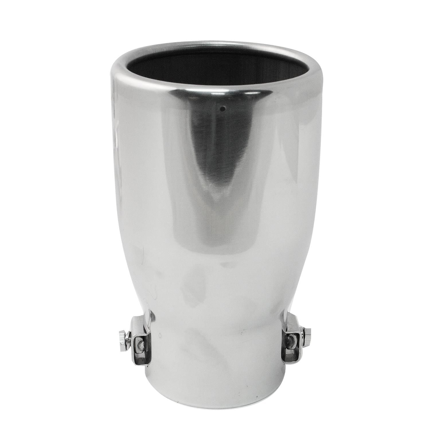 pilot pm 583 mirror polished 2 5in x3 5in exhaust tip