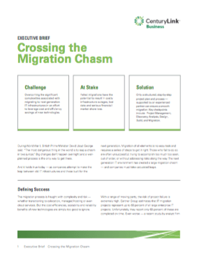 Crossing the Migration Chasm